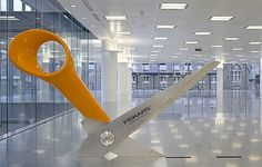 Giant Office Supplies! (5 pics) - My Modern Metropolis #office #scissors #floor
