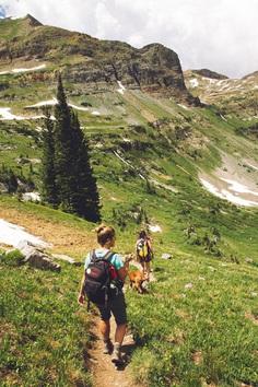 Hiking, trail, women and dog HD photo by Holly Mandarich (@hollymandarich) on Unsplash