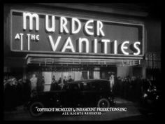Murder at the Vanities (1934) Title Card #movie #lettering #title #card #vintage #type