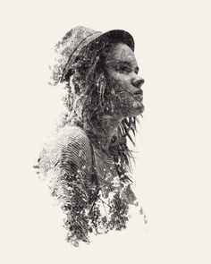 multiple exposure nature portraits by christoffer relander 03 #multiple #photography #exposure