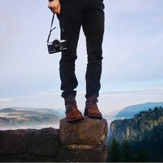 Tumblr #shoes #camera #top #mountains #jeans