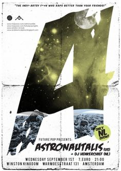Andrew McAlpine ///// Graphic Design //////// #astronautalis #space