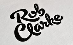 Latest - Rob Clarke Typography #lettering #custom #brush #typography