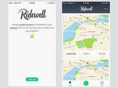 Ridewell Screens by Angelo Walczak #ui #design #app #iphone #mobile