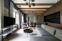 Dark-Coloured Apartment Decor in Vilnius - InteriorZine