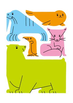 illustration, animals, shunsuke satake