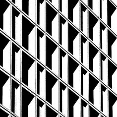 Window contrast. #architecture #grid #black and white #pattern #concrete