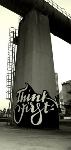 Tumblr #art #typography #graffiti #urban #bridge