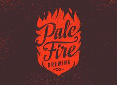 Pale Fire Brewing Co, brand, flame, typography