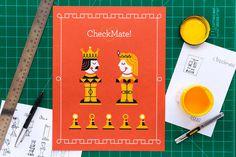 Checkmate #print #design #illustration #vector #color #flat