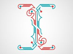 Dribbble - I by Chris Rushing #lettering #letters #typography #letterforms #type #dropcap