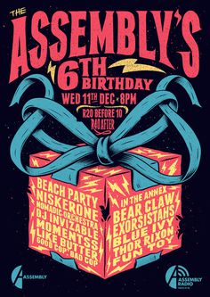 The Assembly's 6th Birthday Party on Behance #type #drawn #hand #illustration