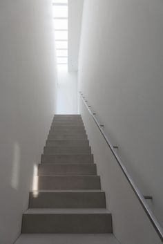 Stairway with skylight. Paros House III by John Pawson.
