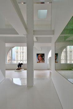 Artistic decor in modern penthouse