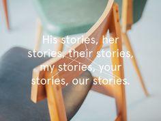 Typography for Stories café #typography #stories #layout #pastel #scandinavian #branding #identity #interior