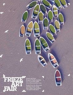 Frieze Art Fair advert by GTF #advert #design #graphic