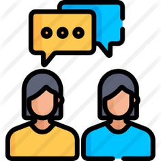 See more icon inspiration related to team, user, speech bubble, group, avatar, communication, person and people on Flaticon.