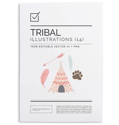 Vintage Tribal ClipArt & Vectors illustrations/clip art in vector .AI, PSD and .PNG 300 DPI format for easy use on blogs, websites, books, s