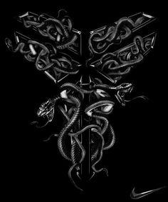 Kobe Sheath Kent Floris Illustration #nike #koe #snakes