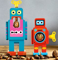 suck uk: wooden robot nutcrackers by matthias zschaler #nutcracker #robot