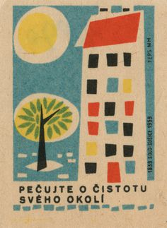 Flickr Photo Download: czechoslovakian matchbox label #illustration