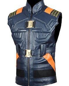 Michael B. Jordan Black Panther Leather Vest (2)