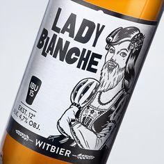 AleBrowar Lady Blanche #packaging #beer #label #bottle