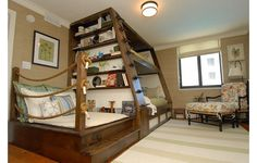 Bunk bed for kids' room by Del Mar - www.homeworlddesign. com (5) #wooden #furniture #bed #kids #bunk