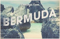 Bermuda Postcard - Matt Wrightson #postcard #photography #beach #typography