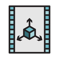 See more icon inspiration related to footage, 3d, animation, film, movie, cinema, interface, multimedia and video on Flaticon.