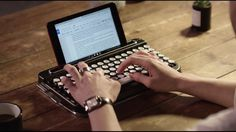 Penna-Retro Bluetooth Keyboard - IPPINKA Penna is a keyboard that looks, sounds, and feels like a typewriter.