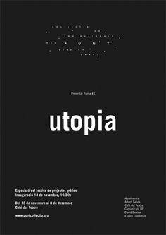 PUNT. Col·lectiu de professionals del disseny grà fic de Lleida #black #poster #typography