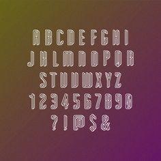 An impossible typface #font #impossible #escher #typeface #mc