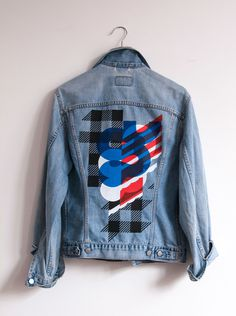 4 color screenprinted denim jacket inspired by Action Bronson & Notorious B.I.G.