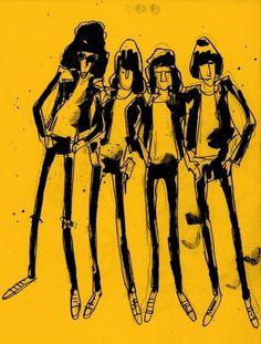Ramones.jpg 966×1276 pixels #illustration #ink #ramones
