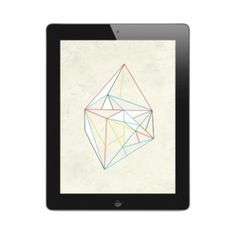 Image of Diamond on Paper | iPad & iPad Mini Wallpaper #ipad #illustration #wallpaper