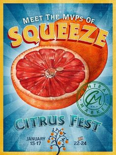 Kevin Reid #market #reid #retro #citrus #kevin #fest #vintage #poster #central