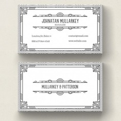 Art deco business card Free Psd. See more inspiration related to Logo, Business card, Pattern, Business, Vintage, Label, Abstract, Card, Border, Ornament, Template, Line, Visiting card, Retro, Luxury, Art, Hipster, Black, Presentation, Stationery, Corporate, Decoration, Company, Modern, Branding, Visit card, Identity, Brand, Deco and Gatsby on Freepik.