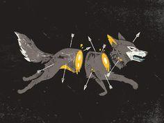 Snarling Slain Wolf