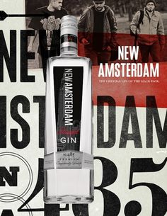 New Amsterdam Gin Stopbreathing #advertising #layout #typography