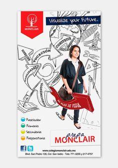 Graphic design for MONCLAIR Institute #design #graphic