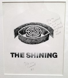 misterpancakes:nnSaul Bass - Unused design for The Shining w/ notes from Kubrickn #film #buff #diss #poster #street #art #logo