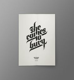 She Comes To Bury : Javier Suárez #lettering