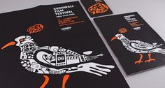 Cornwall Film Festival | Print Design | A-Side #print #blackwhite #poster #illustration