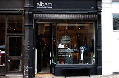 Albam Islington 286, Upper Street, London. #clothing #design #boutique #concept #hipshops #retail #fashion