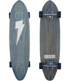 SALT SURF — DL Blue Lightning Bolt #skate #white #skateboarding #black