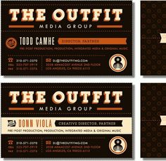 "Great classic look. Like the two toned type in ""THE OUTFIT"". Overall great typography. Colors are great. #typography"