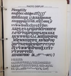 Daily Type Specimen | I know nothing about this Piccadilly font, not to... #type #specimen #typography