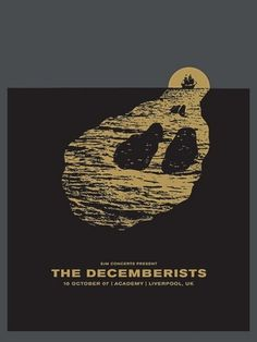 The Decemberists Liverpool Concert Poster by The Small Stakes #gig #screenprint #posters #decemberists