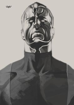 Colossus fanart — X sketch 04 — by wyv1 #sketch #fan #drawing #art